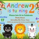 Jungle Safari Animals invitation,Safari animals invite,Safari animals thank you card FREE--119