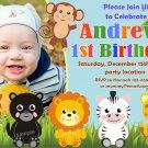 Jungle Safari Animals invitation,Safari animals invite,Safari animals thank you card FREE--120