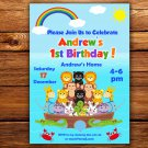 Noah's Ark Birthday Invitation,Noah's Ark invite,Noah's Ark thank you card FREE--121