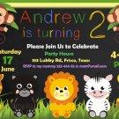 Jungle Safari Animals invitation,Safari animals invite,Safari animals thank you card FREE--124