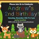 Woodland Animals invitation,Woodland animals invite,Woodland animals thank you card FREE--125