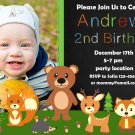 Woodland Animals invitation,Woodland animals invite,Woodland animals thank you card FREE--126