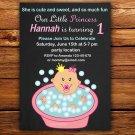 Little princess invitation,Little princess invite,Little princess thank you card FREE--129