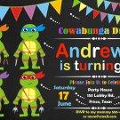 Ninja turtles invitation,Ninja turtles birthday invite,Ninja turtles thank you card FREE--131