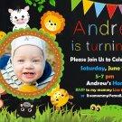 Jungle Safari birthday  invitation,Jungle Safari  invite,Jungle Safari thank you card FREE--140