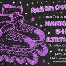 Roller skating birthday  invitation,Roller skating  invite,Roller skating thank you card FREE--141