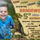 Dinosaur birthay invitation,Dinosaur birthay invite,Dinosaur thank you card FREE--142