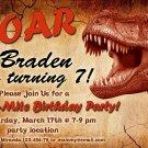 Dinosaur birthay invitation,Dino birthay invite,Dinosaur thank you card FREE--143