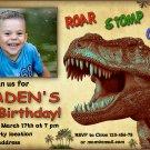 Dino birthay invitation,Dinosaur birthay invite,Dinosaur thank you card FREE--144