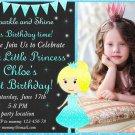Little princess birthday invitation,Little princess invite,Little princess thank you card FREE--147