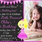 Little princess birthday invitation,Little princess invite,Little princess thank you card FREE--148