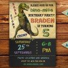 Dino birthay invitation,Dinosaur birthay invite,Dinosaur thank you card FREE--162