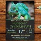 Chameleon birthay invitation,Chameleon birthay invite,Chameleon thank you card FREE--165