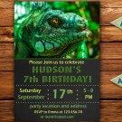 Chameleon birthay invitation,Chameleon birthay invite,Chameleon thank you card FREE--166
