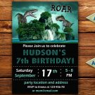 Dinosaur birthay invitation,Dinosaur birthay invite,Dinosaur thank you card FREE--167