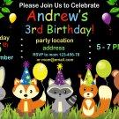 Woodland Animals invitation,Woodland animals invite,Woodland animals thank you card FREE--169