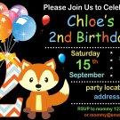 Fox birthday invitation,Woodland animals invite,Fox thank you card FREE--170