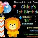 Lion birthday invitation,Safari animals invite,Lion thank you card FREE--171