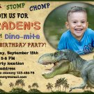 Dino birthay invitation,Dinosaur birthay invite,Dinosaur thank you card FREE--174