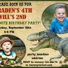 Dinosaur birthay invitation,Dinosaur birthay invite,Dino thank you card FREE--175