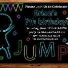jump and play birthay invitation,jump and play invite--179