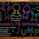 jump and play birthay invitation,jump and play invite--180
