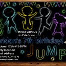 jump and play birthay invitation,jump and play invite--181