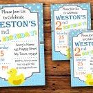 Rubber Ducky birthday invitation,Rubber Ducky birthday invite--215