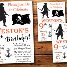 Pirate birthday invitation,Pirate birthday invite--227