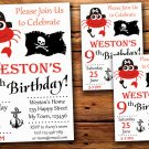 Pirate birthday invitation,Pirate birthday invite--228