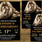 Lion birthday invitation,Lion birthday invite,Safari birthday invitation