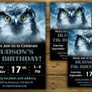 Owl birthday invitation,Owl birthday invite,Polar owl birthday invitation