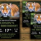 Tiger birthday invitation,Tiger birthday invite,Jungle birthday invitation