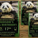 Panda birthday invitation,Panda birthday invite,Jungle birthday invitation