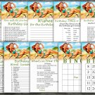 Pin Up Birthday Games package,Adult Birthday Games,9 Birthday Games,INSTANT DOWNLOAD