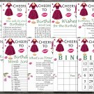 65th Birthday Games package,Adult Birthday Games,Womens birthday,9 Birthday Games,INSTANT DOWNLOAD