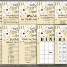 Golden Birthday Games package,Adult Birthday Games,9 Birthday Games,INSTANT DOWNLOAD