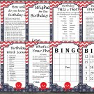 Octopus Birthday Games package,Adult Birthday Games,Under the sea,9 Birthday Games,INSTANT DOWNLOAD