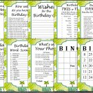 Palm Birthday Games package,Adult Birthday Games,Jungle Birthday,9 Birthday Games,INSTANT DOWNLOAD