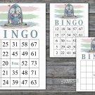 Penguin bingo game,Penguin bingo card,birthday bingo card,60 Printable card,INSTANT DOWNLOAD--384
