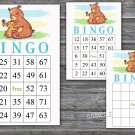 Bear bingo game,Woodland bingo card,birthday bingo card,60 Printable card,INSTANT DOWNLOAD--383