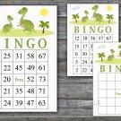 Dino bingo game,Dinosaur bingo cards,birthday bingo games,60 Printable card,INSTANT DOWNLOAD--371