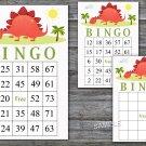 Dinosaur bingo game,Dinosaur bingo cards,birthday bingo,60 Printable card,INSTANT DOWNLOAD--370