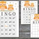 Owl bingo game,Woodland bingo cards,birthday bingo games,60 Printable card,INSTANT DOWNLOAD--366