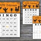 Halloween bingo game,Halloween bingo cards,Halloween Party,60 Printable card,INSTANT DOWNLOAD--03