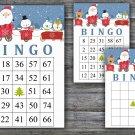 Christmas bingo game,Santa bingo game,Christmas Party bingo,Holiday Bingo,INSTANT DOWNLOAD--8