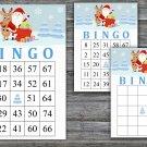 Christmas bingo game,Santa bingo,Rudolf bingo,Christmas Party ,Holiday Bingo,INSTANT DOWNLOAD--9