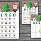 Christmas bingo game,Santa bingo,Snowman bingo,Christmas Party ,Holiday Bingo,INSTANT DOWNLOAD--11
