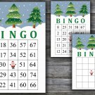 Christmas bingo game,christmas tree bingo,Christmas Party ,Holiday Bingo,INSTANT DOWNLOAD--12