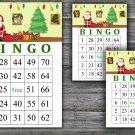 Christmas bingo game,Santa claus bingo,Christmas Party ,Holiday Bingo,INSTANT DOWNLOAD--14